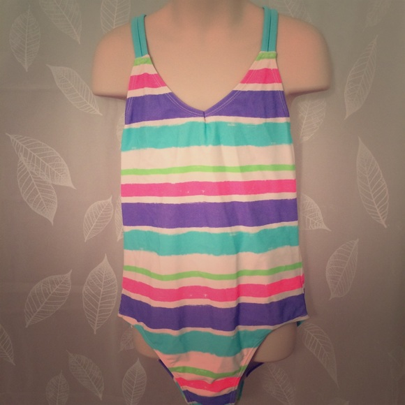 be8ee34f31 Lands' End Swim | Lands End Kids 1 Piece Suit Sz L Stripes | Poshmark